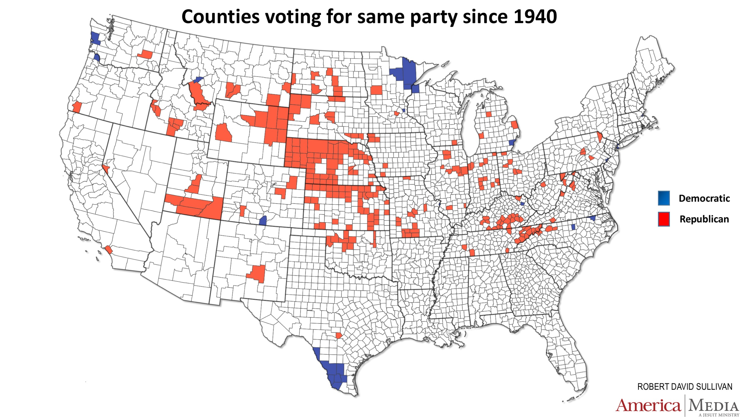 the blue counties on the map are simply the ones that remained after the democratic base in texas melted away over the 20th century