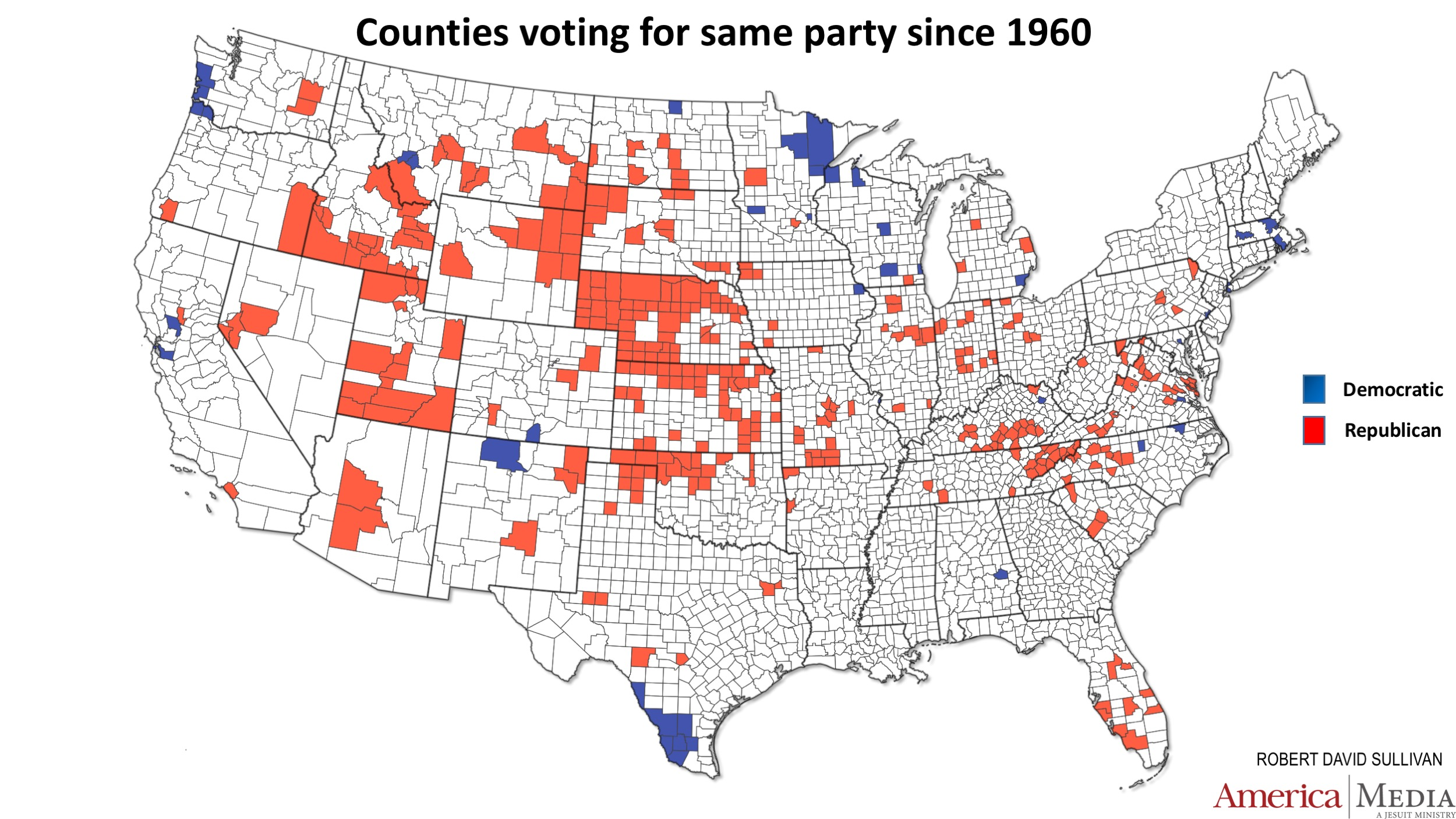 Map Of America Voting.How The Red And Blue Map Evolved Over The Past Century America
