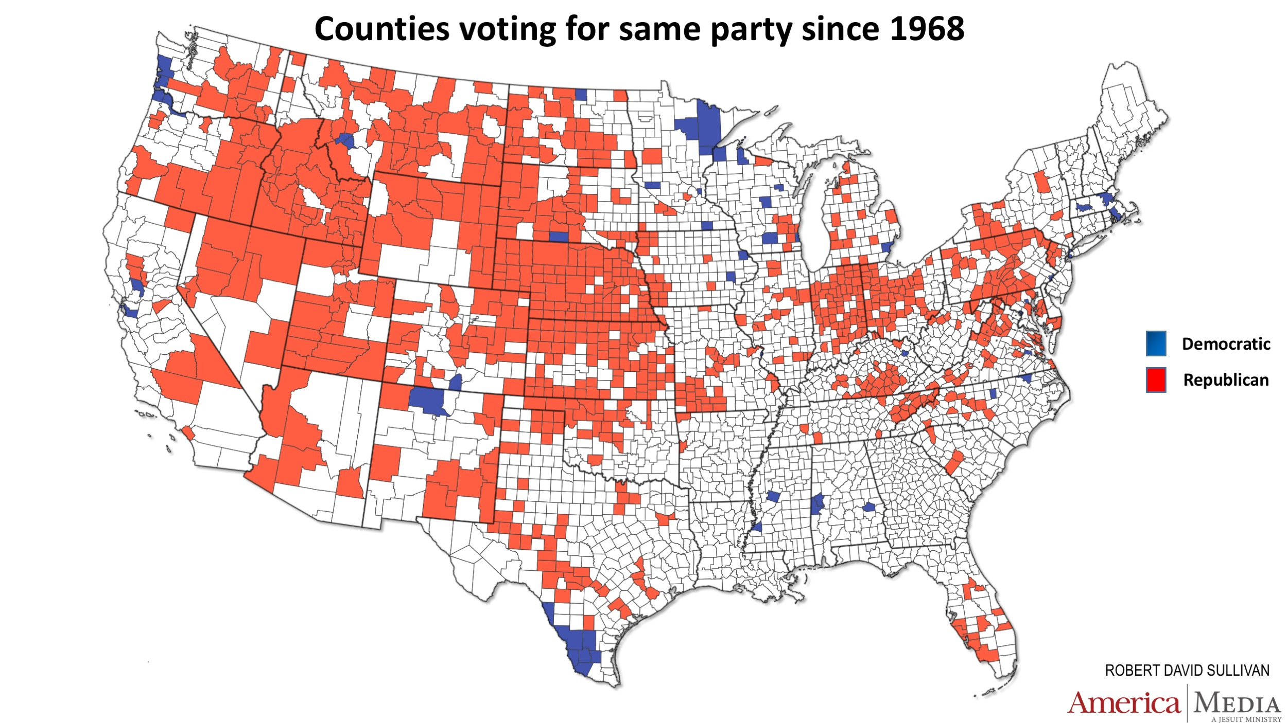How the red and blue map evolved over the past century ...