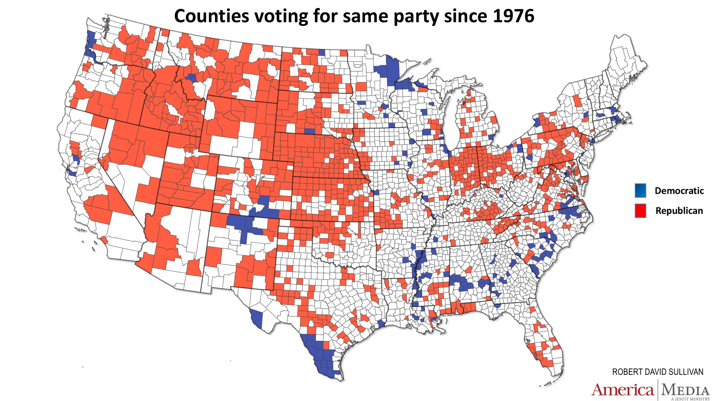 How The Red And Blue Map Evolved Over The Past Century America - Conservative dominance states in the us map
