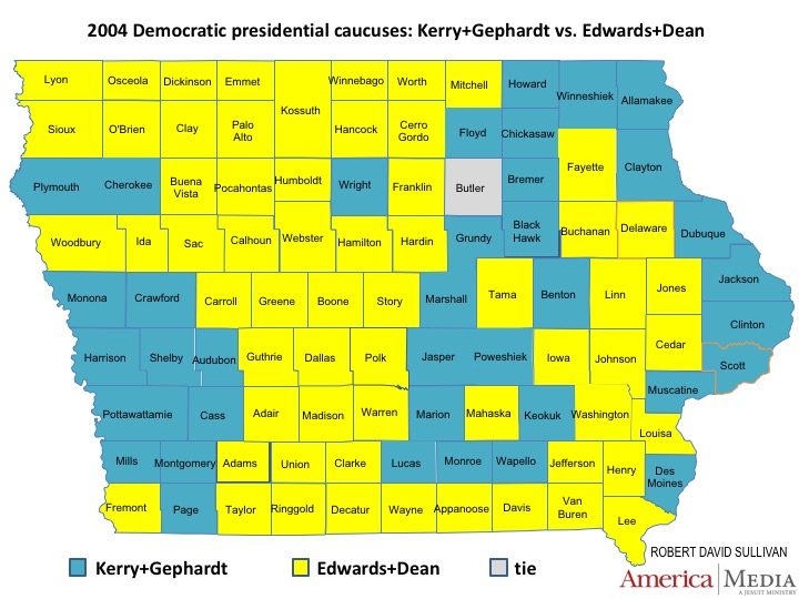 Another Possible Regional Breakdown Can Be Seen In The Results Of The 2004 Democratic Caucuses When Howard Dean S Vaunted Campaign Organization Was