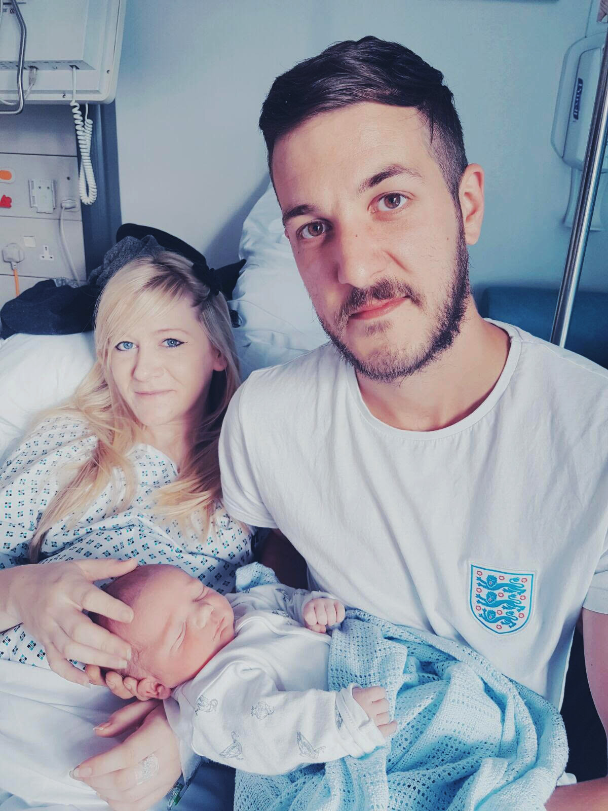 Charlie Gard and his parents.