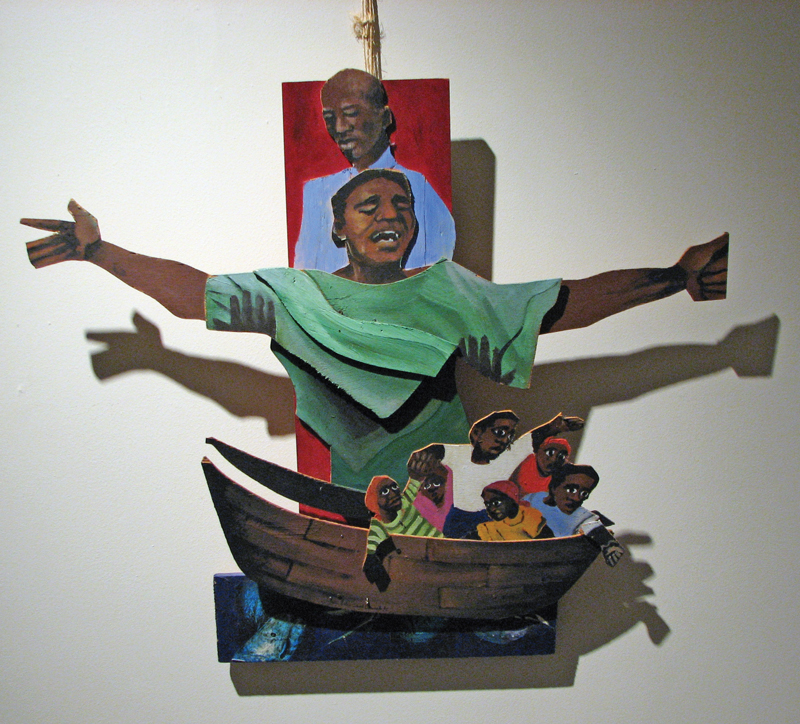 """Crucifixion—Haiti"" by Helen David Brancato, I.H.M"