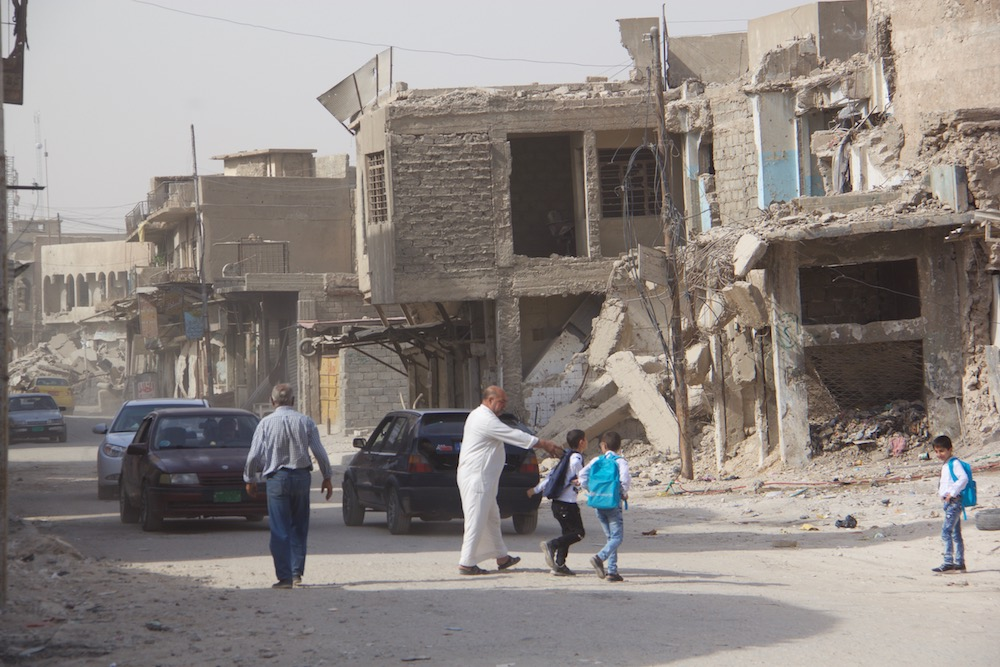 Image: Amid the ruins of Mosul's Old City, some former residents are attempting to start over.