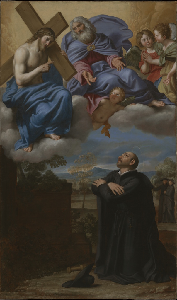 """Saint Ignatius of Loyola's Vision of Christ and God the Father at La Storta,"" ca. 1622, Domenico Zampieri, called Domenichino (Italian, 1581-1641)"