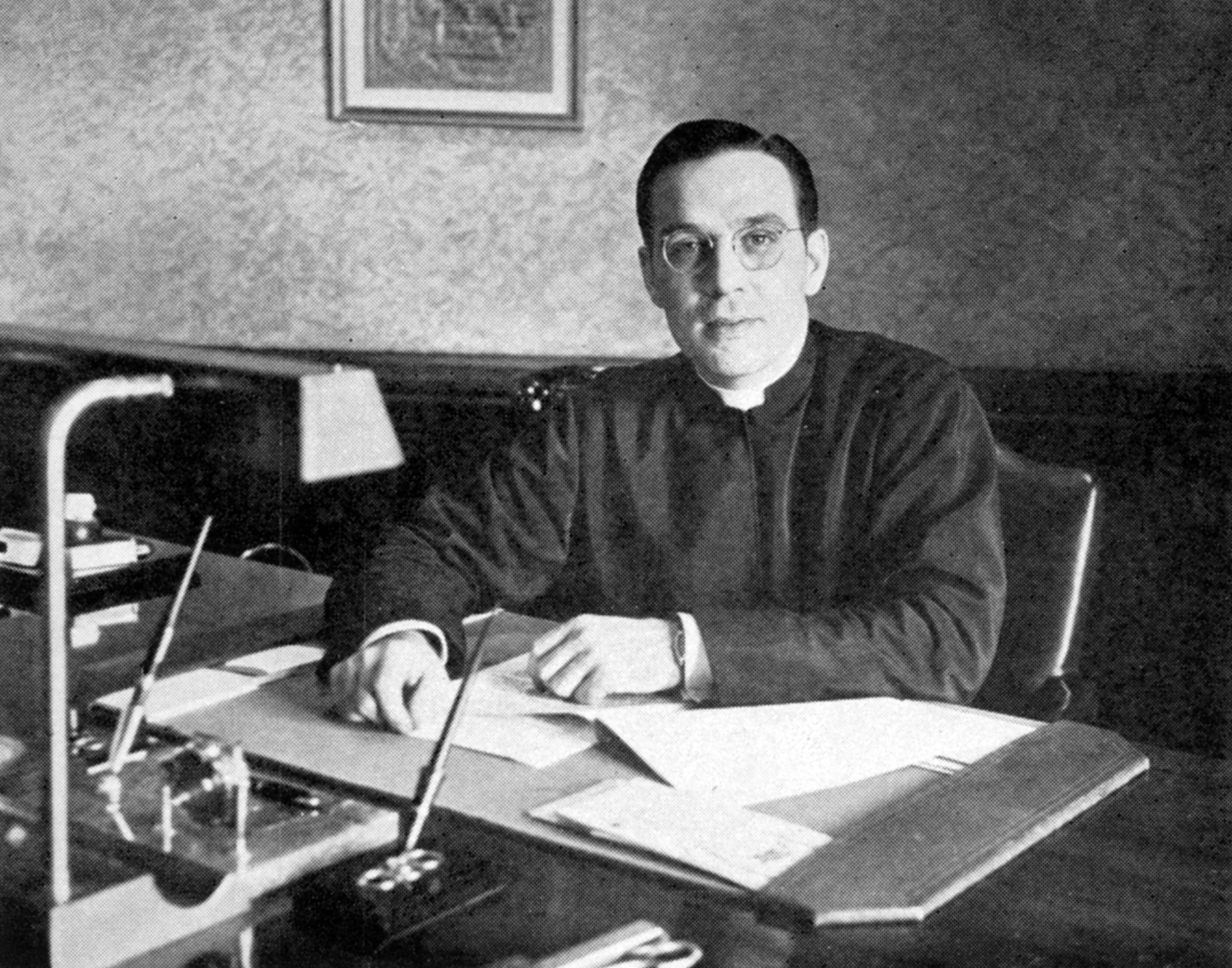 Father Patrick J. Holloran, SJ, president of Saint Louis University, 1943-1949. (SLU Photo Collection - Archives. Saint Louis University Libraries.)