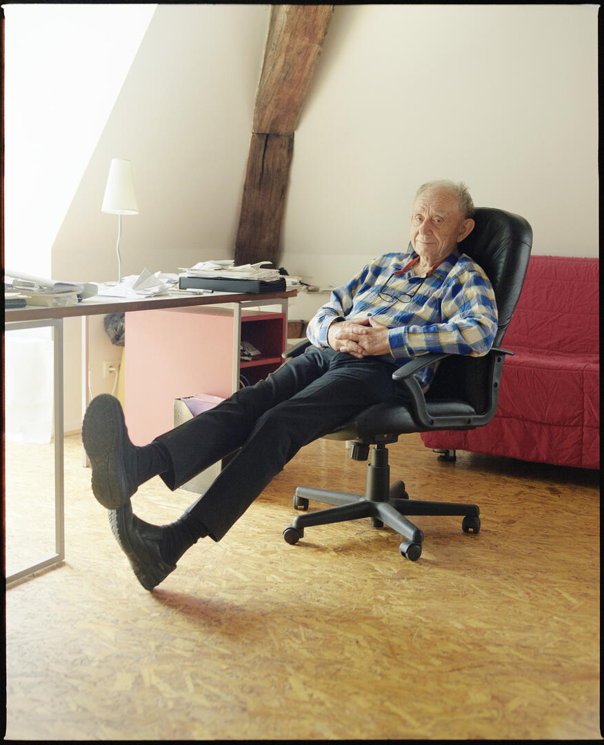 Photo of Frederick Wiseman by Adrien Toubiana