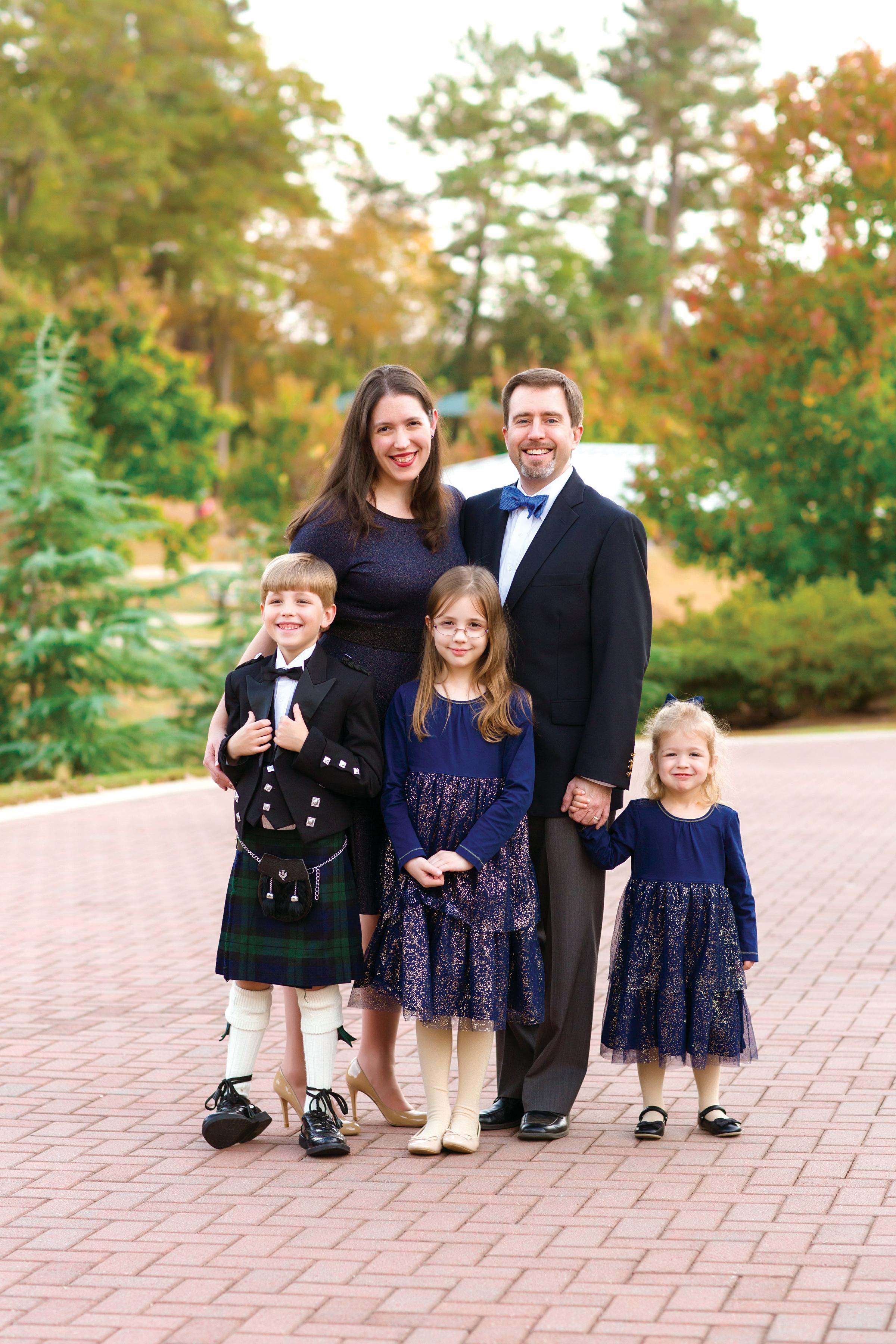 Gina Parnaby e sua família