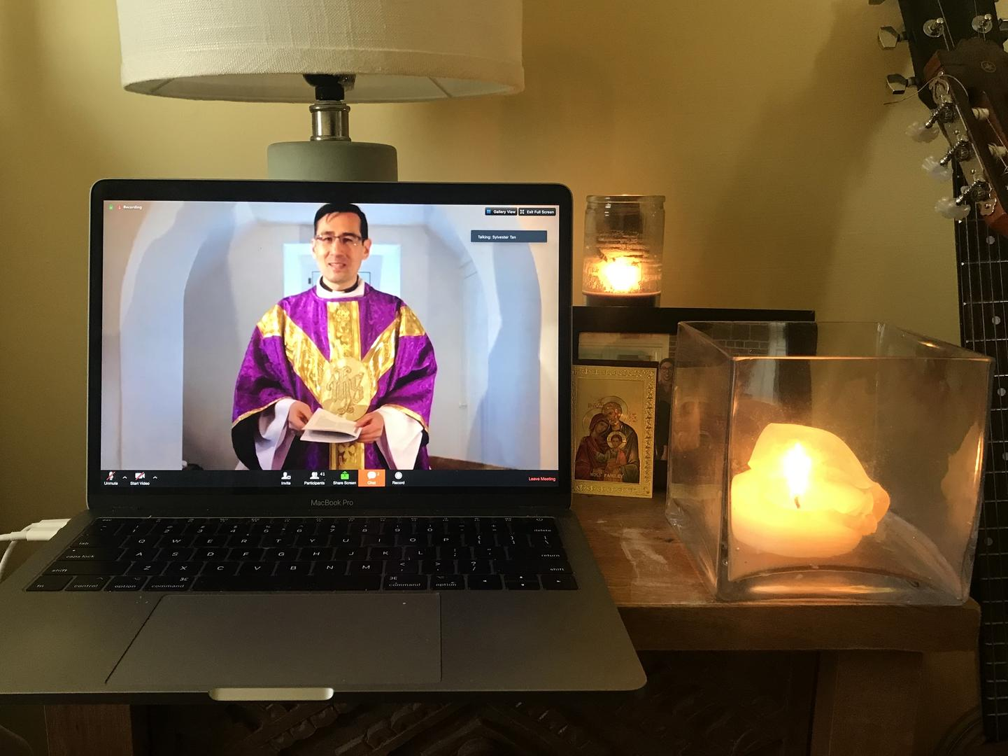 mass on computer screen