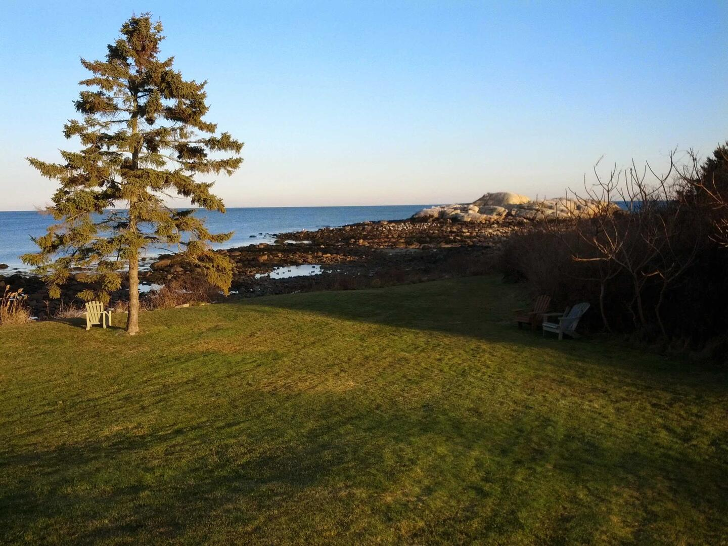 View of the Atlantic from the Eastern Point Retreat House in Gloucester, Mass. (Photo by author)
