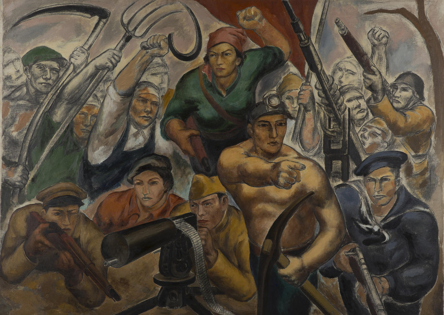 """The People's Front"" by Eitaro Ishigaki (photo: The Whitney Museum of Art)"