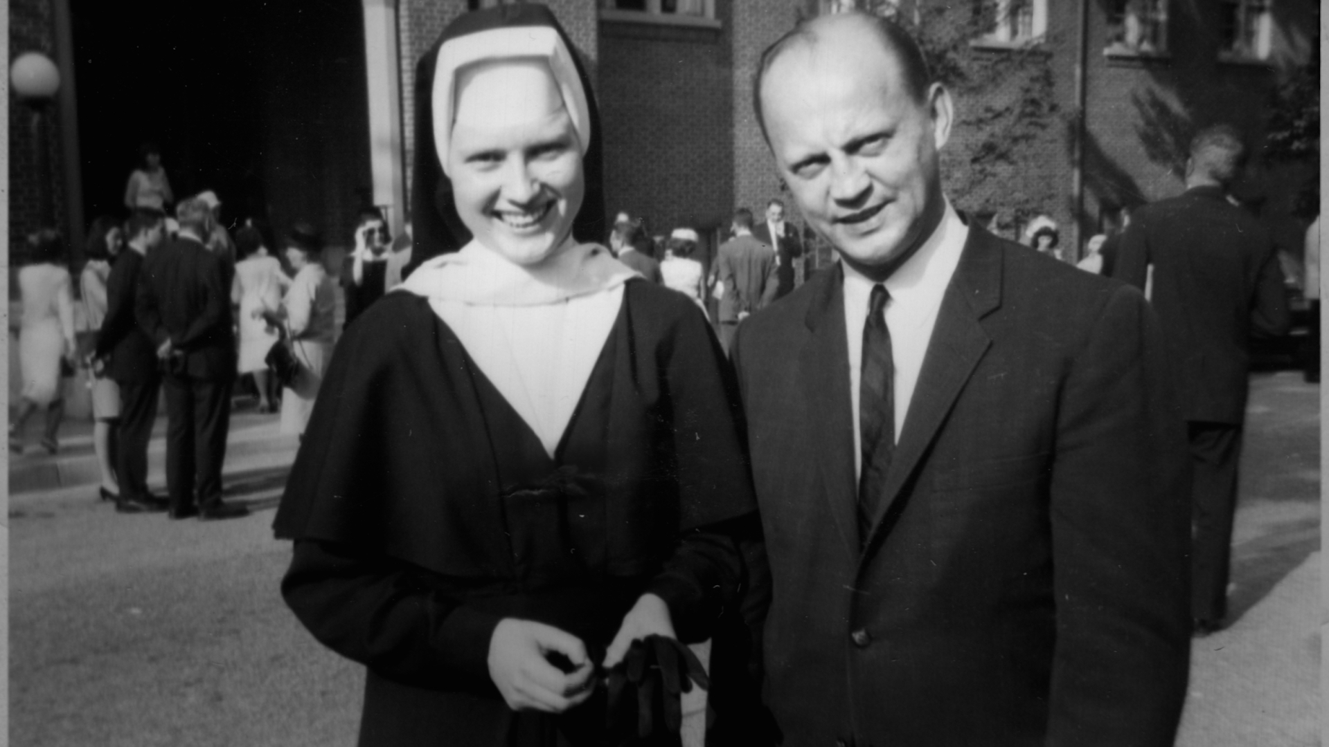 Sister Cathy Cesnick at right (photo: Netflix)
