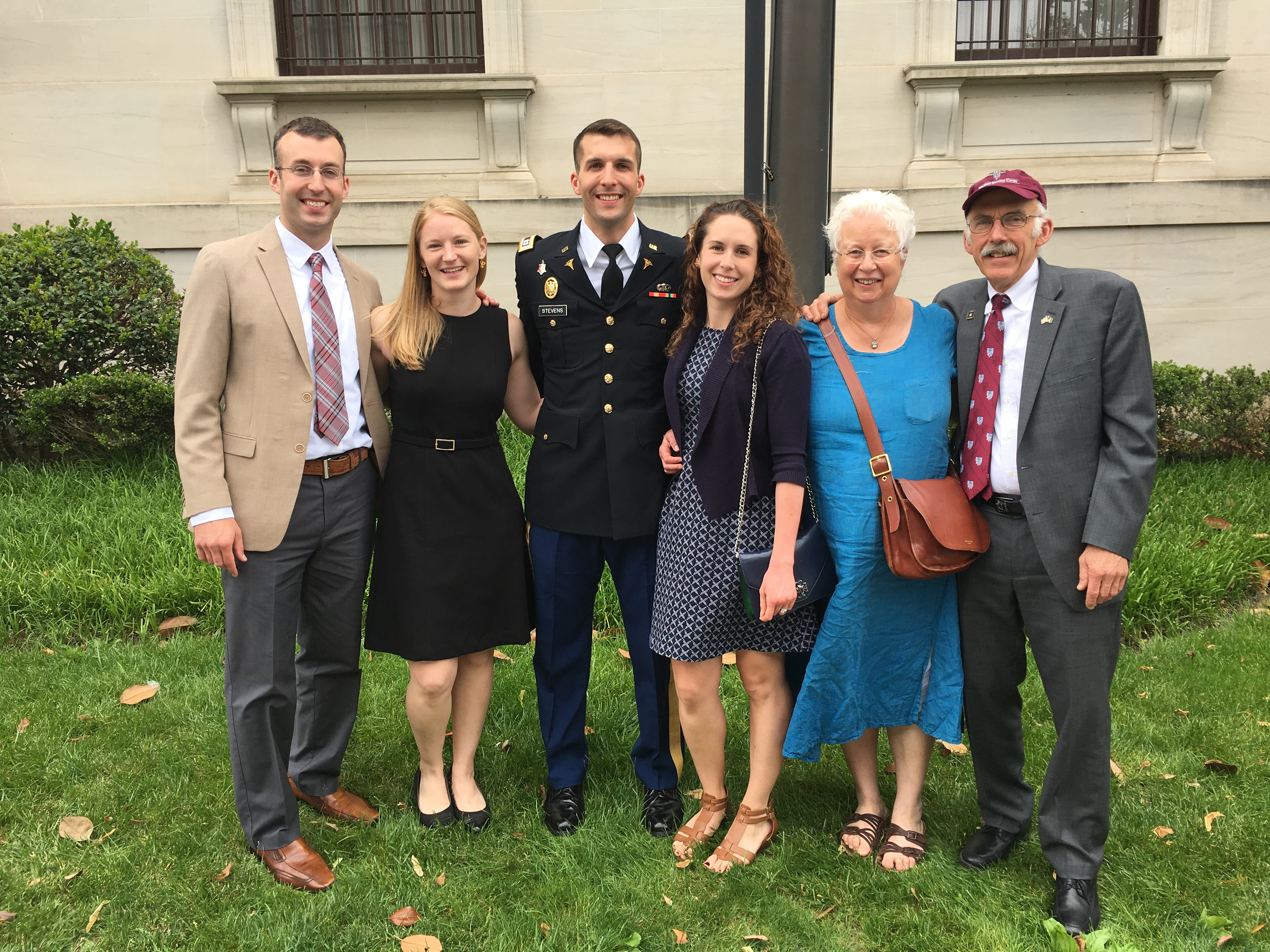 Nancy Berube at younger son Sam's 27, med school graduation and commissioning as a captain.