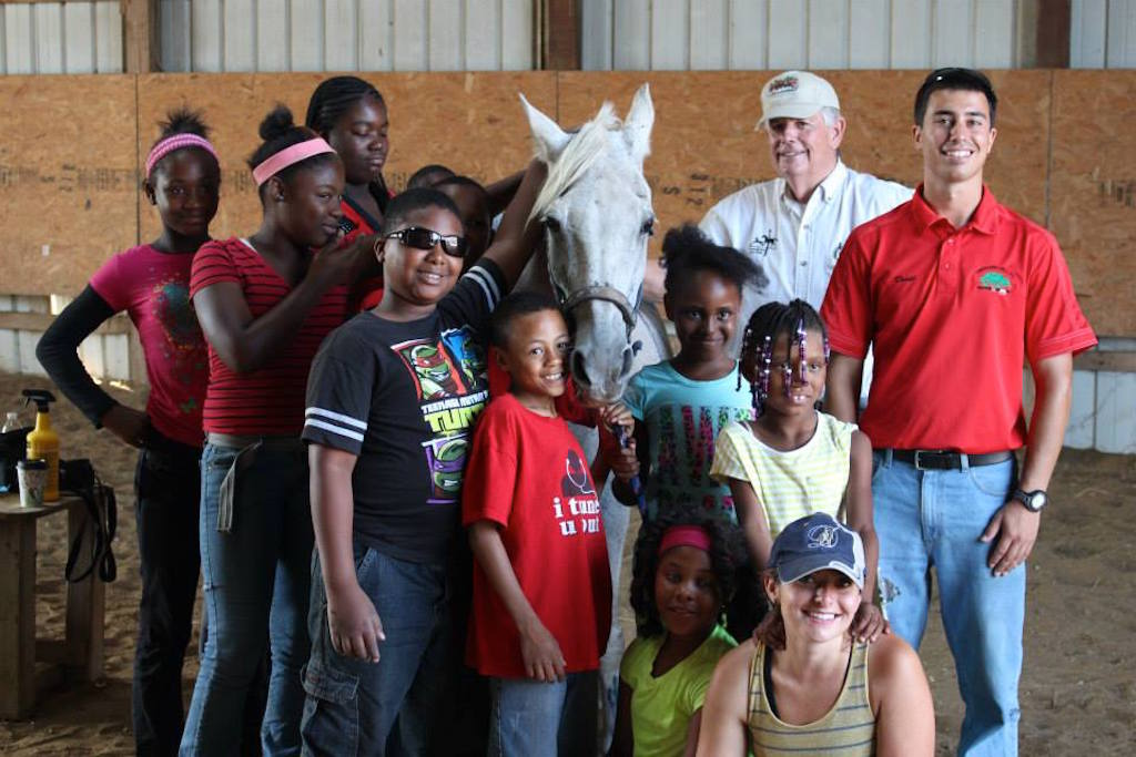 David Silver (far right), with Detroit Horse Power campers (Courtesy of Detroit Horse Power)