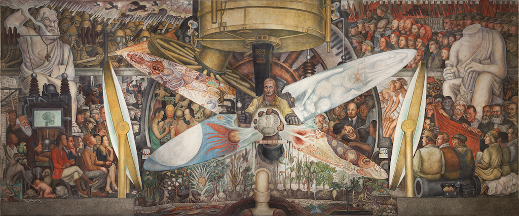 "Diego Rivera, ""Man, Controller of the Universe,"" 1934 (photo: the Whitney Museum of Art)"