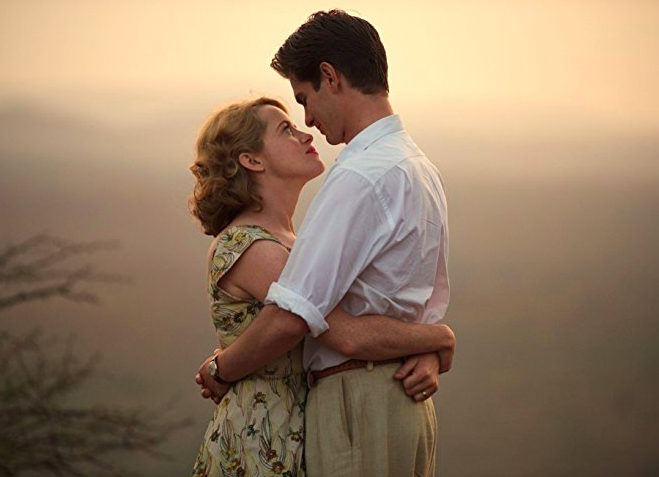 "Claire Foy and Andrew Garfield in ""Breathe"" (image via IMDb)"