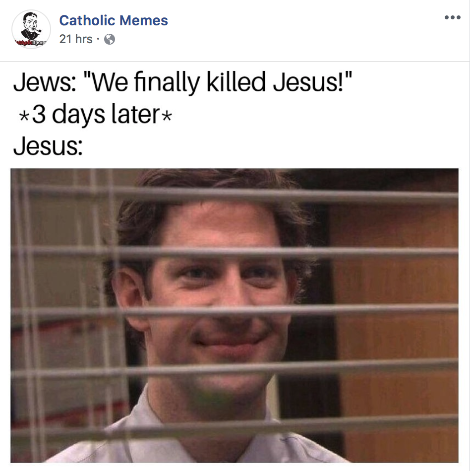 Antisemitic Catholic Meme