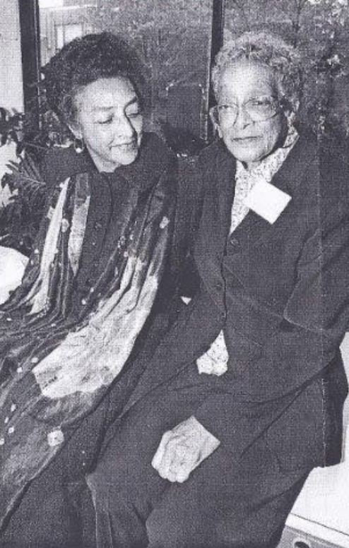 Onita Estes-Hicks, left, with sister Augusta Bayonne (Image provided by Ms. Estes-Hicks)