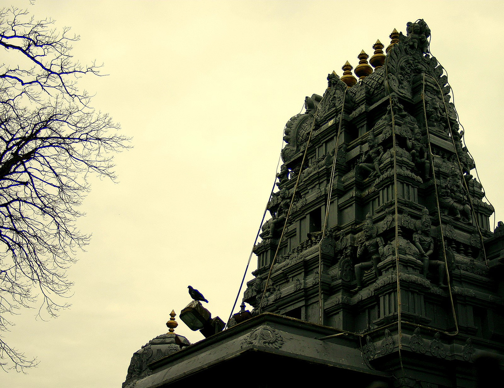 Hindu temple in Flushing, NY. Source: Malaiya
