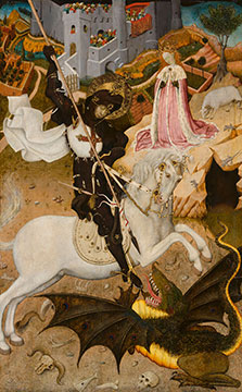 Bernat Martorell. Saint George and the Dragon, 1434/35. Gift of Mrs. Richard E. Danielson and Mrs. Chauncey B. McCormick.
