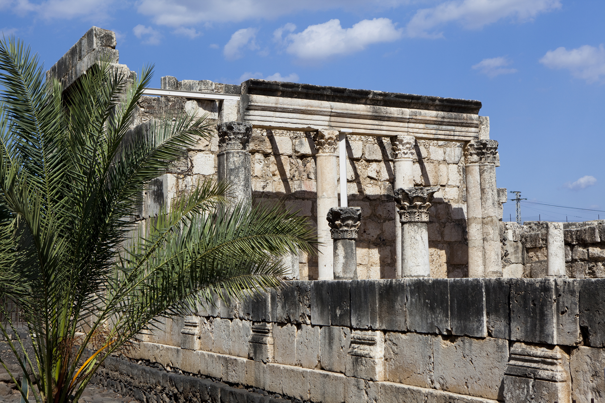 Ancient synagogue in Capernaum