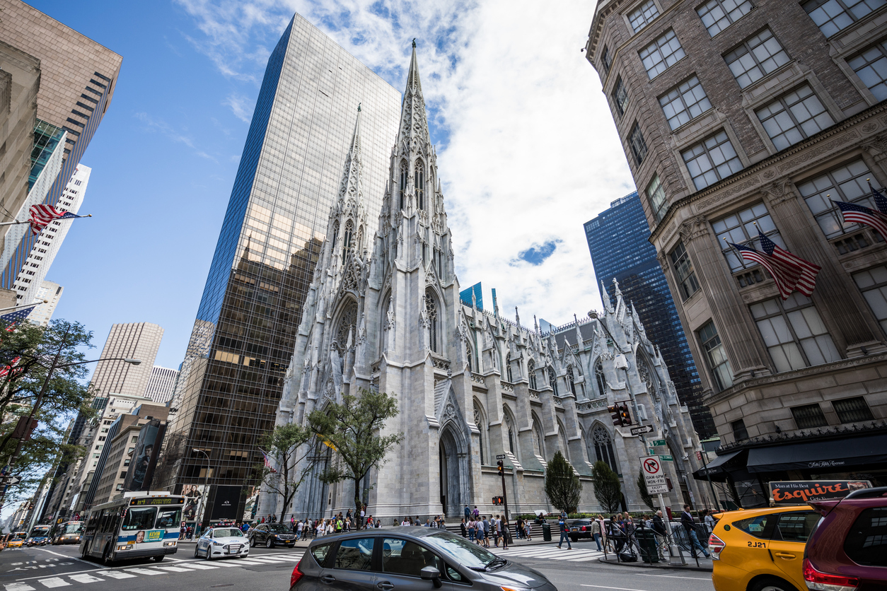 St. Patrick's Cathedral stands amid the bustle of midtown Manhattan (iStock)