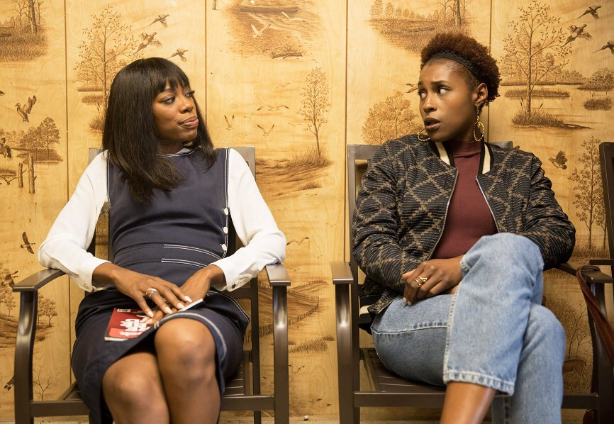 "Orji and Issa Rae in ""Insecure"" (image provided by HBO)"