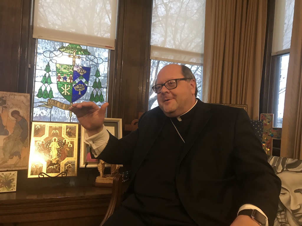"The solution to the ""current opioid crisis is one that involves the whole person,"" says the Most Rev. Edward Malesic, the bishop of the Diocese of Greensburg in western Pennsylvania. (Photo: John W. Miller)"