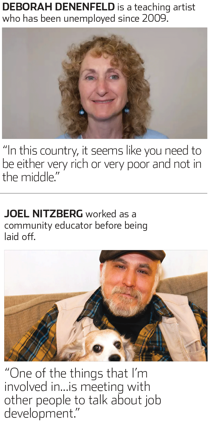 Unemployed workers over 50 share their stories