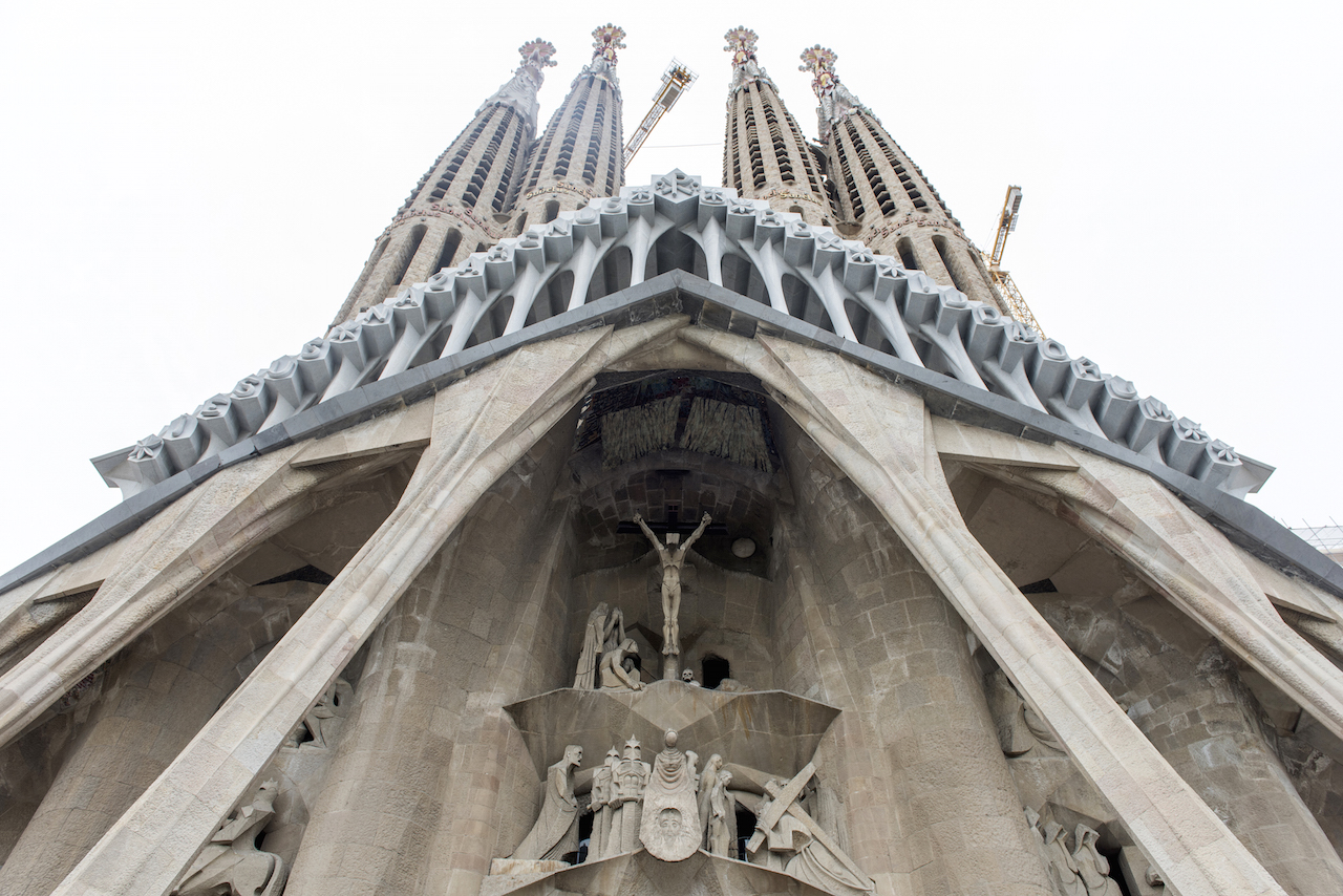The Passion facade at Barcelona's Sagrada Familia