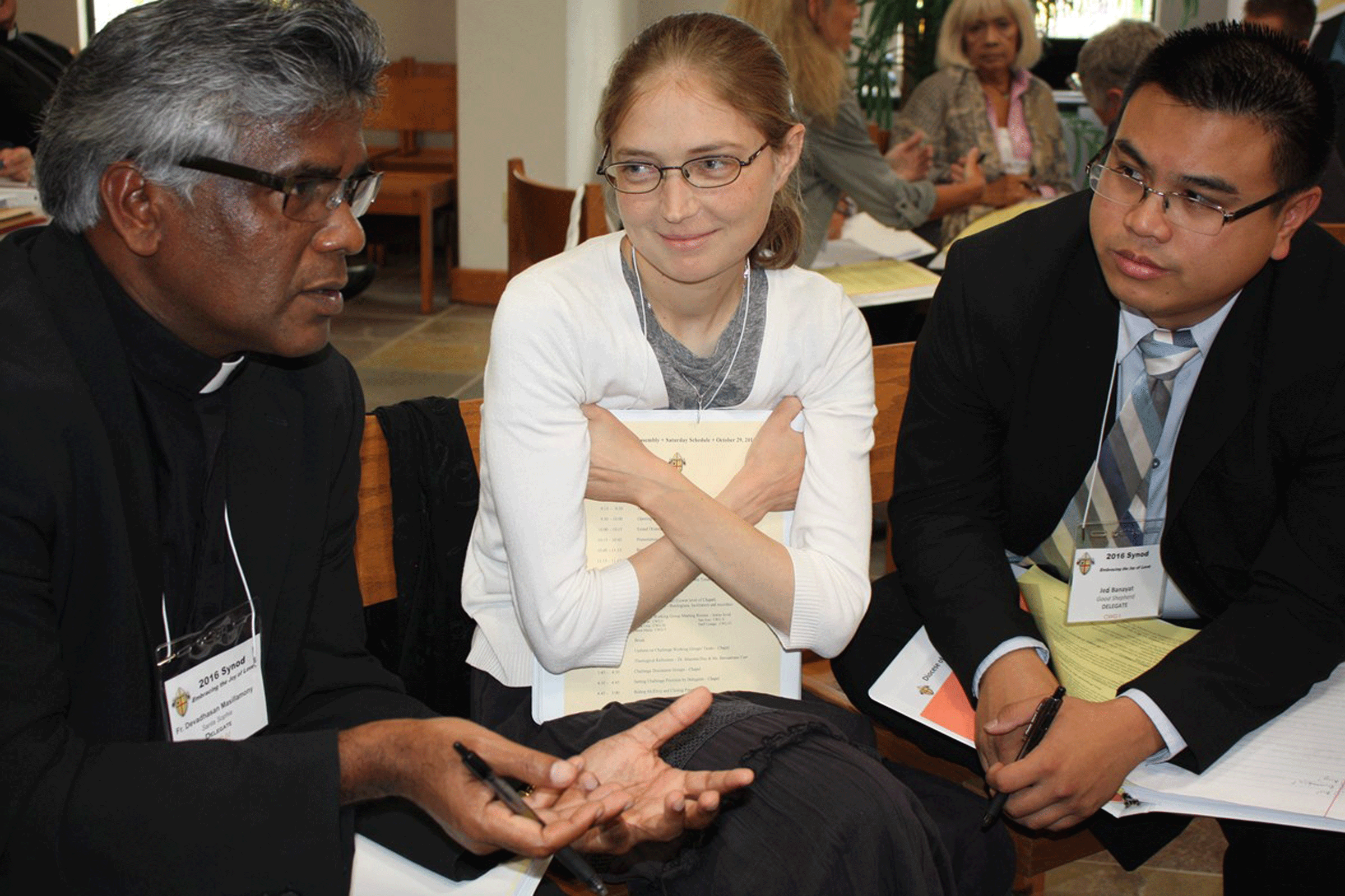 In the working groups, lay leaders, priests and theologians all met together. (Photo: courtesy of Diocese of San Diego/Aida Bustos)