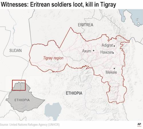 Reports of a massacre at a church in Tigray deemed credible