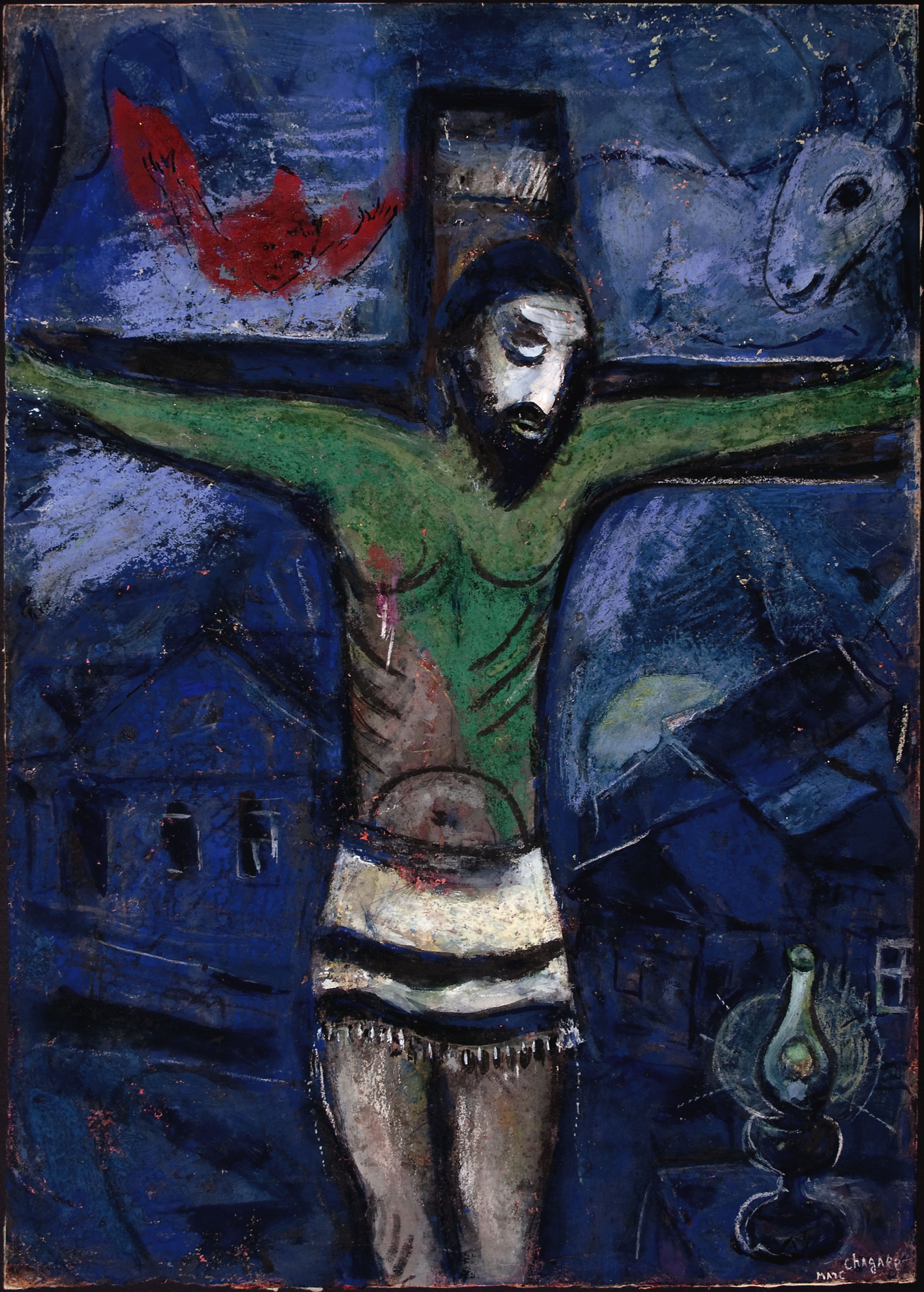 White Crucifixion Painting