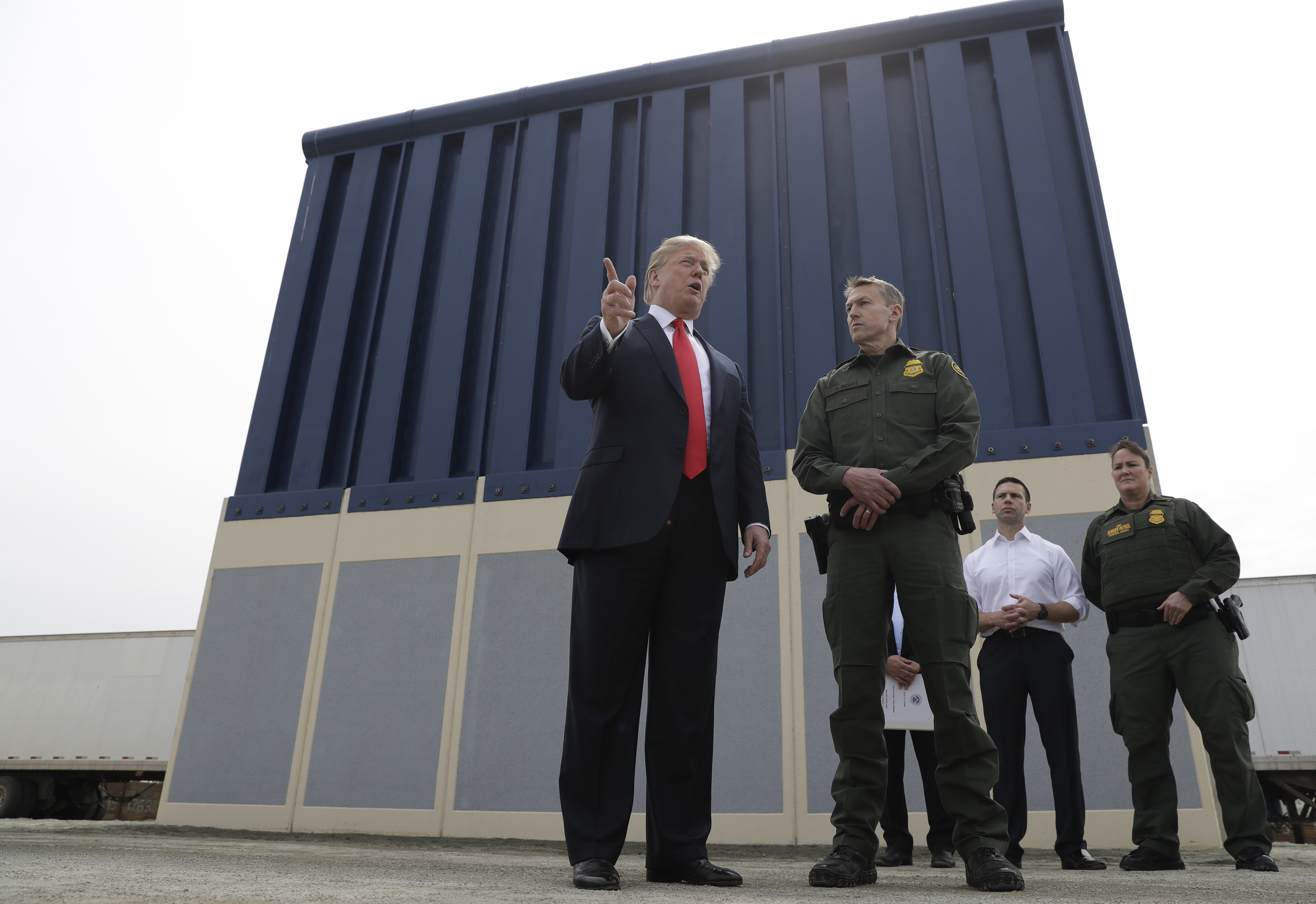 President Donald Trump Reviews Border Wall Prototypes On March  In San Go Ap