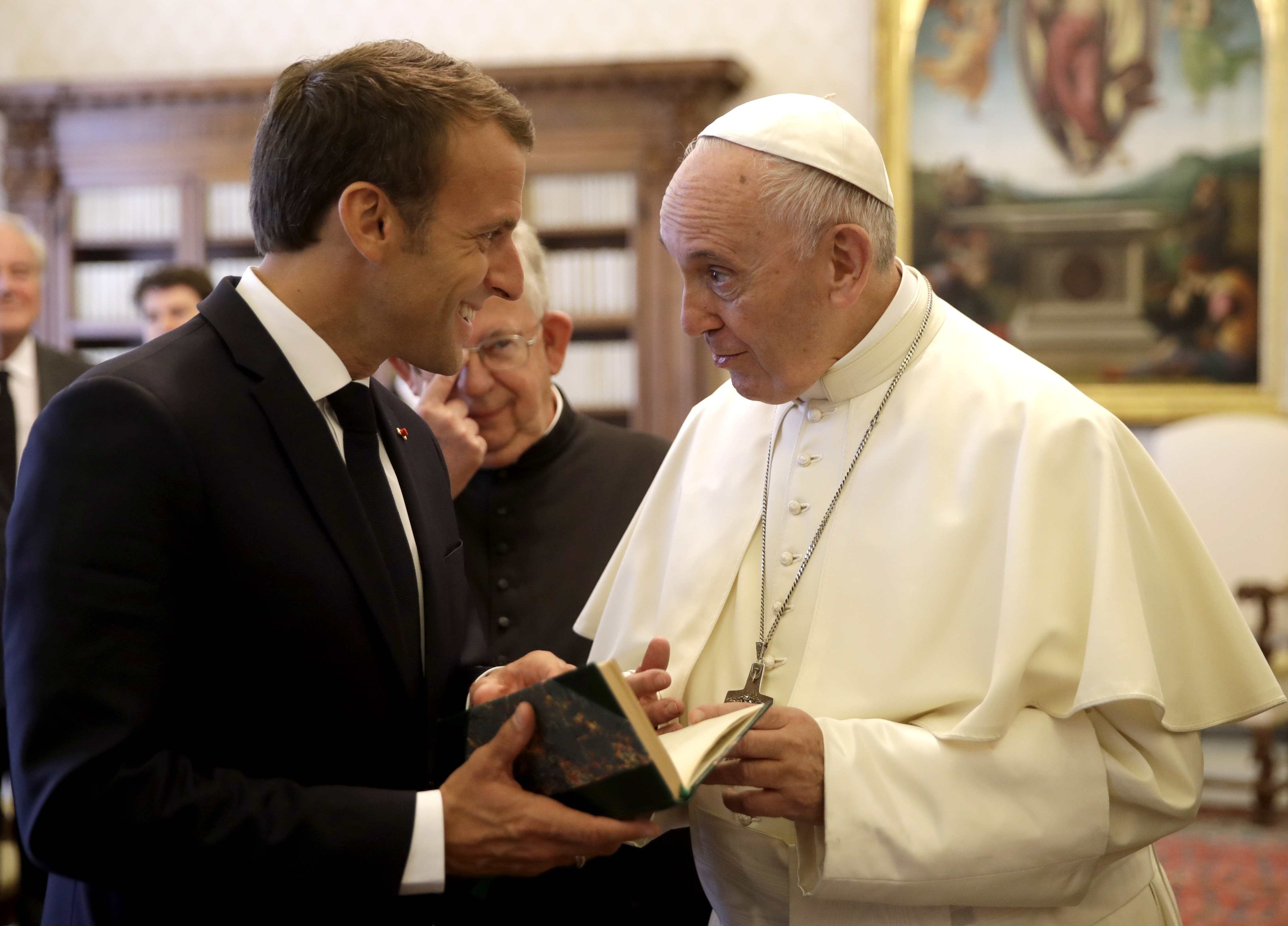 Pope Francis and French President Macron hit it off in first