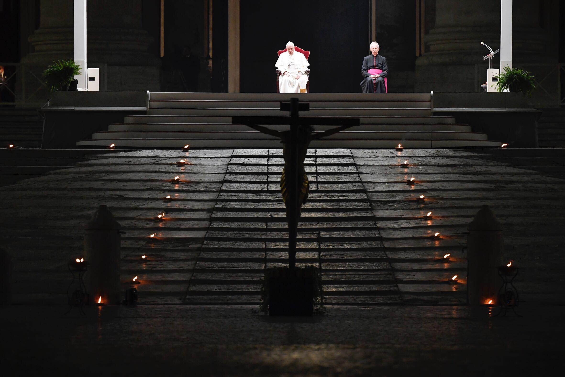 Pope upside down cross