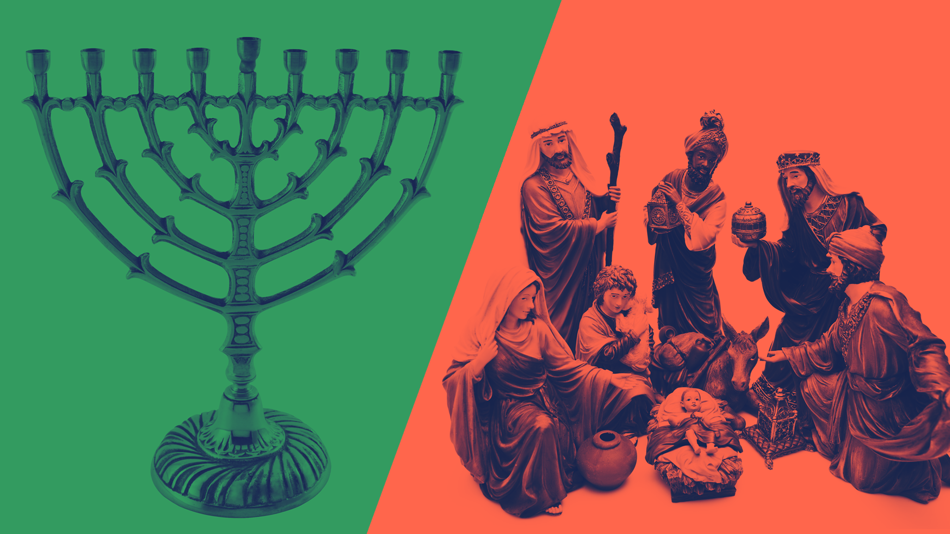 Celebrating Hanukkah where the dominant winter holiday isn't Christmas