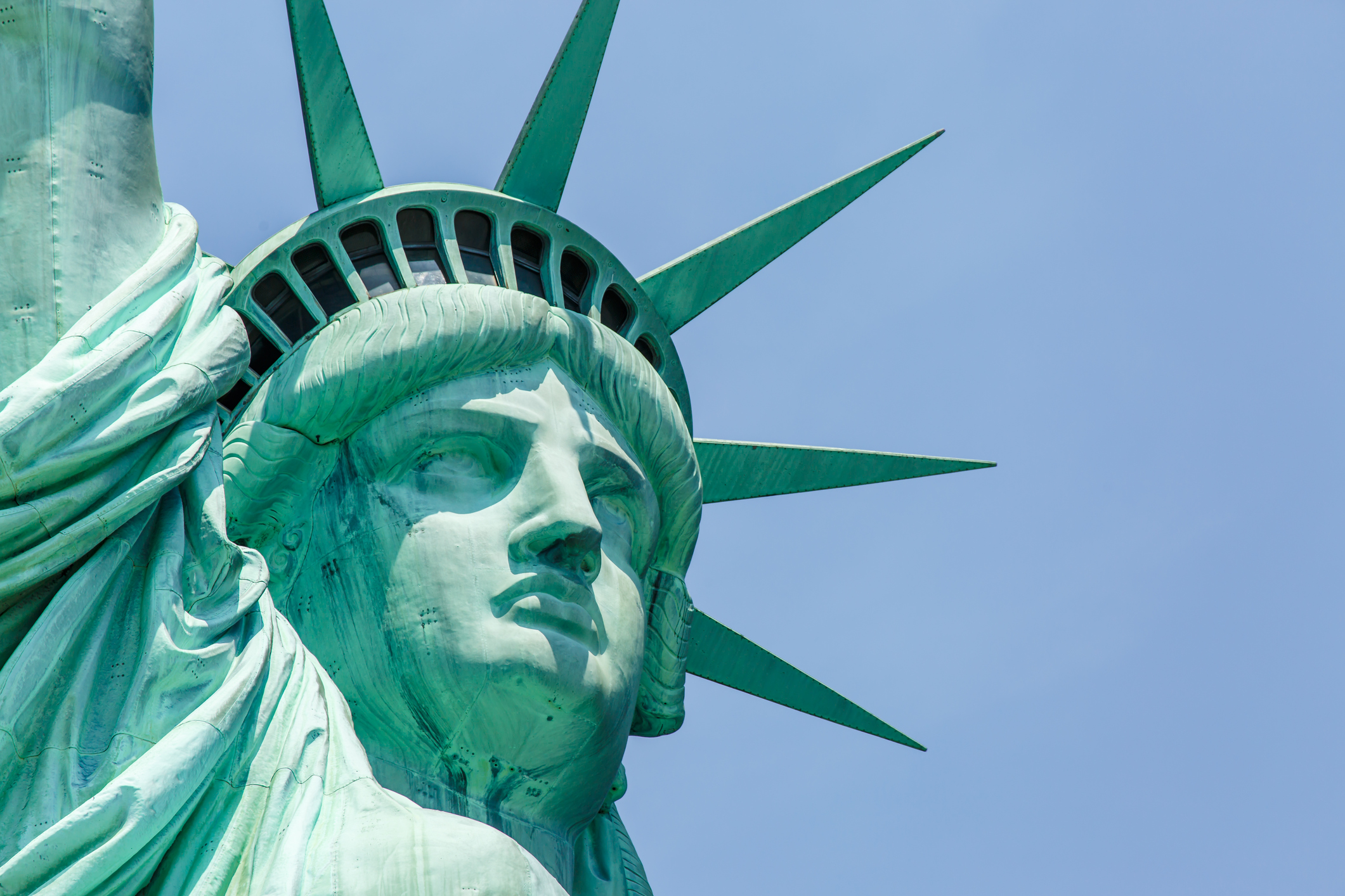 The Statue of Liberty is a sign of wel e—but our immigration