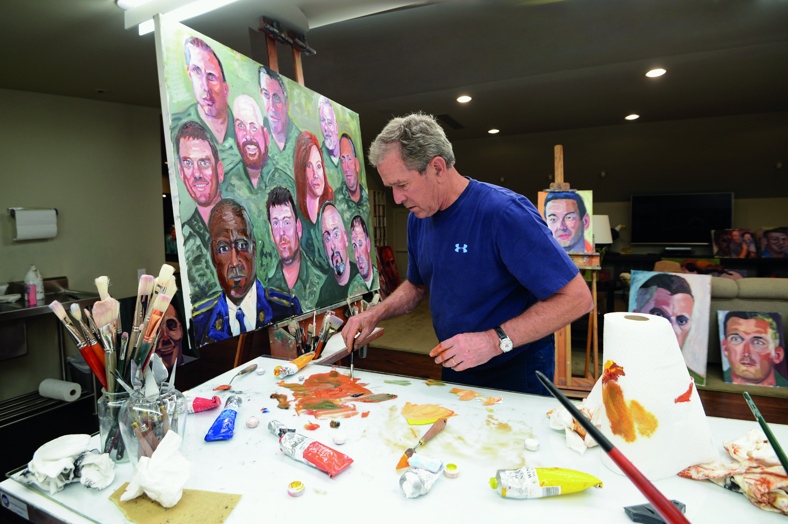 George Bush Painting Bathtub: Searching For George W. Bush In His Portraits Of The