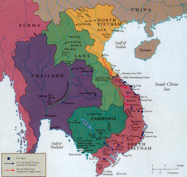 Map Of Asia Vietnam War.War Of Words The Editors Evolving Perspectives On Vietnam