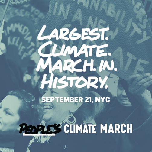 Photo courtesy of People's Climate March