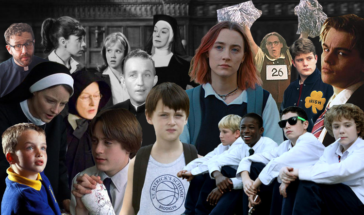 Collage of the 10 Greatest Catholic School Movies of All Time