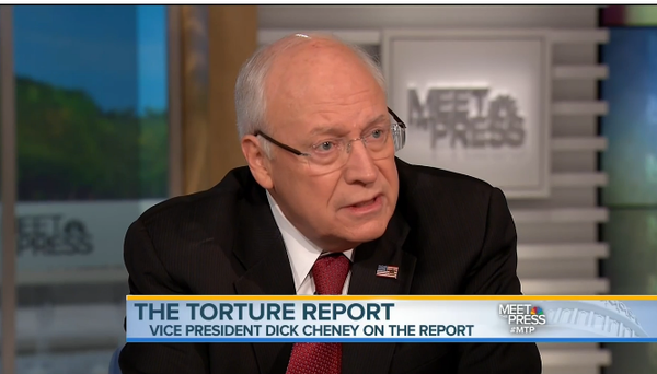 "Former Vice President Dick Cheney refused to leave his comfort zone on ""Meet the Press."""