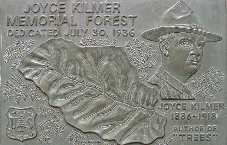 Joyce Kilmer's popularity is evidenced by the many things named after him (photo: Wikipedia).