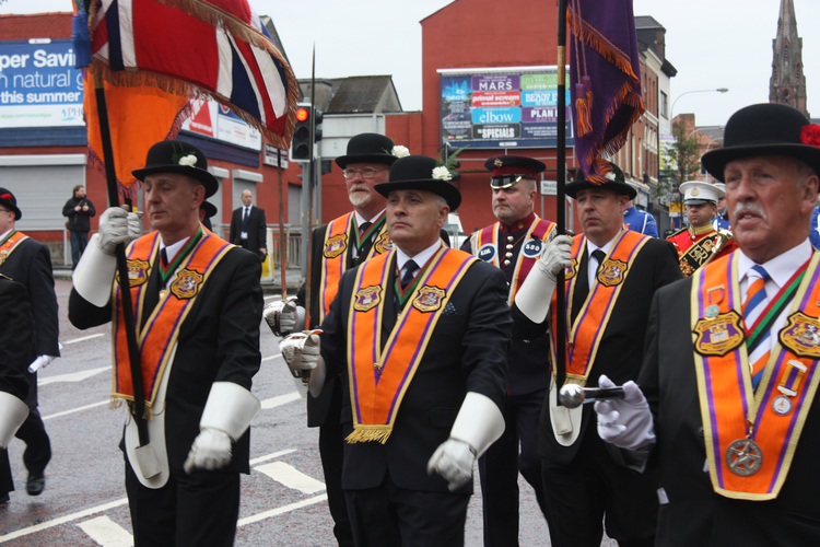 An 'Orange walk' in Belfast in 2011. (Wikimedia Commons from user Ardfern)