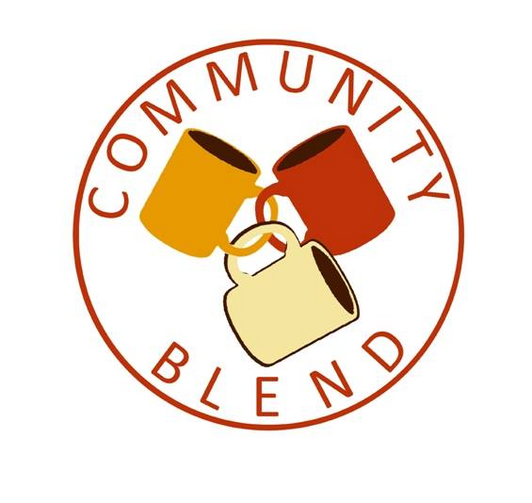 The logo of Community Blend, a worker-owned coffee shop in Cincinatti, Ohio.