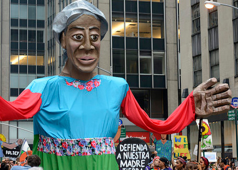 Puppet at the People's Climate March in New York City on September 21. (Stephen Melkisethian/Flickr)