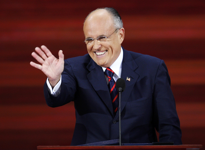If you don't share Rudy Giuliani's views, he knows a boat you can get on. (CNS photo/Mike Segar, Reuters, from the 2008 Republican National Convention)