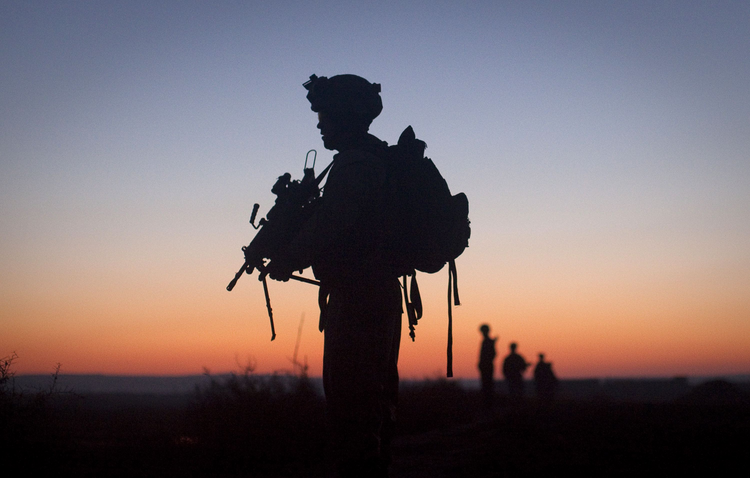 U.S. Marine in Afghanistan (CNS photo/Adrees Latif, Reuters)