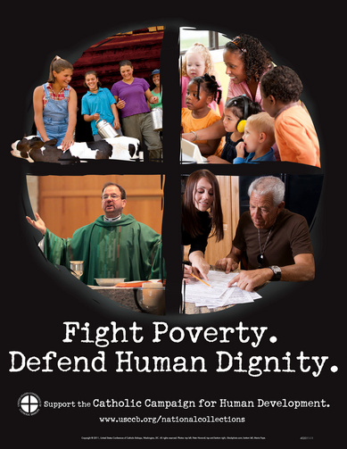 An ad from the U.S. Conference of Catholic Bishops promoting the Catholic Campaign for Human Development. (CNS illustration/courtesy CCHD) (Nov. 7, 2011)